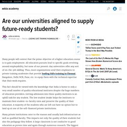 Are our universities aligned to supply future-ready students?