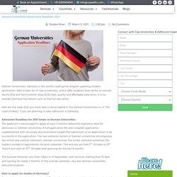German Universities Application Deadlines