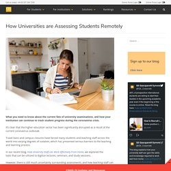 How Universities are Assessing Students Remotely - QS