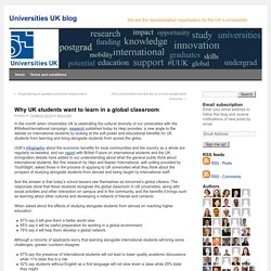 Why UK students want to learn in a global classroom - Universities UK blogUniversities UK blog