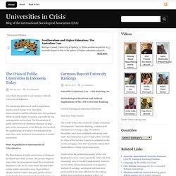 Universities in Crisis