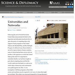 Universities and Networks