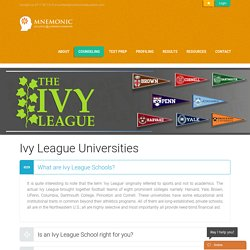 Ivy League Universities