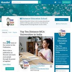 Top Ten Distance MCA Universities in India
