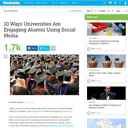 10 Ways Universities Are Engaging Alumni Using Social Media