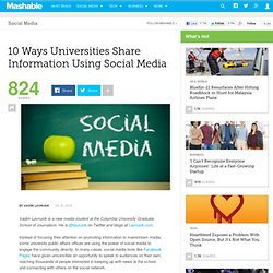 10 Ways Universities Share Information Using Social Media