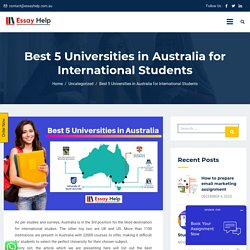 Universities in Australia for International Students
