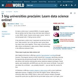 3 big universities proclaim: Learn data science online!