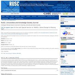 RUSC. Revista de Universidad y Sociedad del Conocimiento