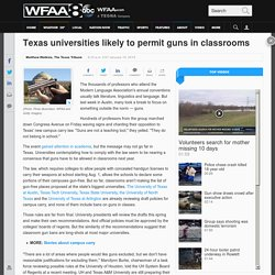 Texas universities likely to permit guns in classrooms