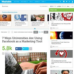 7 Ways Universities Are Using Facebook as a Marketing Tool