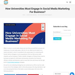 How Universities Must Engage In Social Media Marketing For Business?