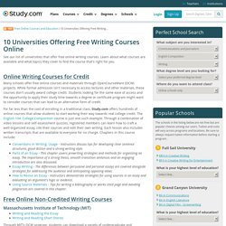 free online technical writing courses