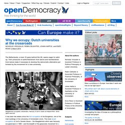 Why we occupy: Dutch universities at the crossroads