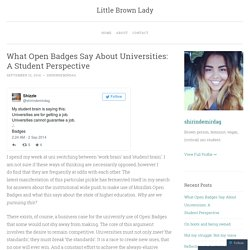 What Open Badges Say About Universities: A Student Perspective