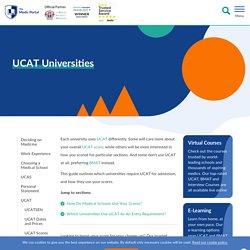 UCAT Universities - Requirements and Scores - UCAT - The Medic Portal