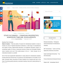 Study in Canada - Universities, Admission, Scholarships, Student Permit