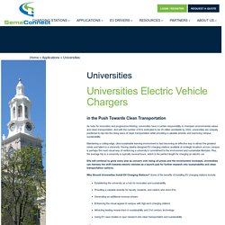 SemaConnect Provide Electric Vehicle Chargers in universities