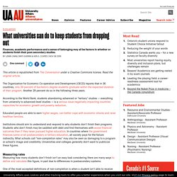 What universities can do to keep students from dropping out