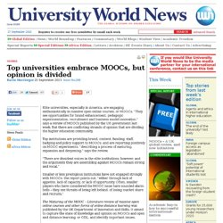 Top universities embrace MOOCs, but opinion is divided