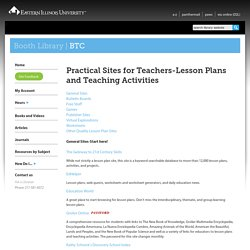 Practical Sites for Teachers-Lesson Plans and Teaching Activities