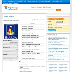 Sharda University ranking-way2college