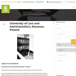 University of Law and Administration Rzeszow, Poland