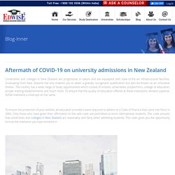 Aftermath of COVID-19 on university admissions in New Zealand