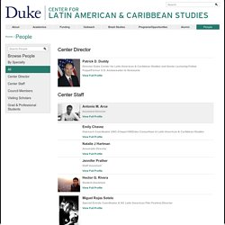 Center for Latin American & Caribbean Studies: People