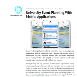University Event Planning With Mobile Applications – Smarter Mobile Apps