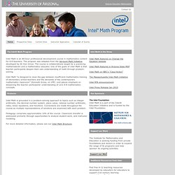 The University of Arizona - Intel Math