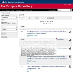 Search - The University of Arizona Campus Repository