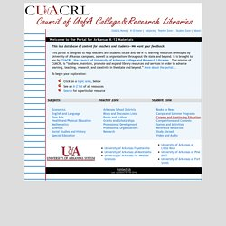 K - 12 Portal: University of Arkansas Research Libraries