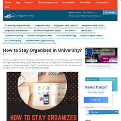 How to Stay Organized in University?