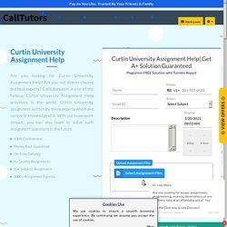Curtin University Assignment & Homework Help