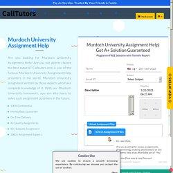 Best Murdoch University Assignment & Homework Help