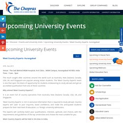 Upcoming University Events in Aurangabad, Pune 2015