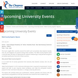 University Events in Mysore, Bangalore 2015