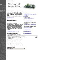 University of Bergen Library