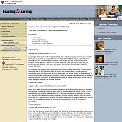 Teaching and Learning at Indiana University, Bloomington
