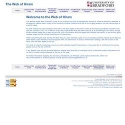 University of Bradford : Web of Hiram