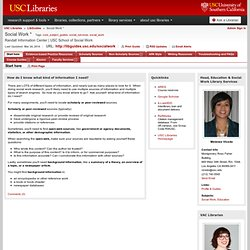 Home - Social Work * - LibGuides at University of Southern California