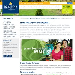 The Green MBA at Dominican University of California