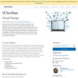 Visual Design - University of California, San Diego
