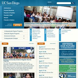 UC San Diego Fiftieth Anniversary : Achieving the Extraordinary : Home