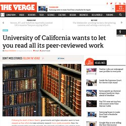 University of California wants to let you read all its peer-reviewed work