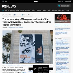 The Natural Way of Things named book of the year by University of Canberra, which gives free copies to students