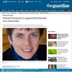 Oxford University to appoint first female vice-chancellor