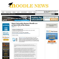 Open University chooses Moodle 2.0 as their LMS of the future