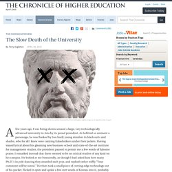 The Slow Death of the University - Terry Eagleton
